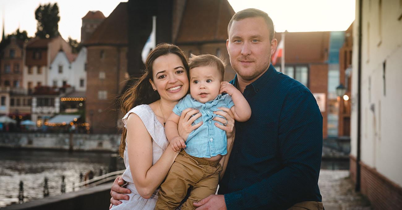 zdjęcia rodzinne w plenerze gdańsk
